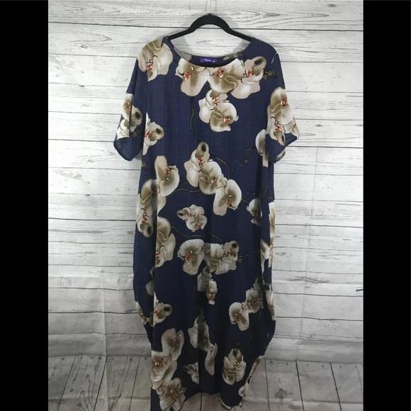 06bb457e6ad romacci Dresses | Floral Lagenlook Tunic Dress Xxl | Poshmark